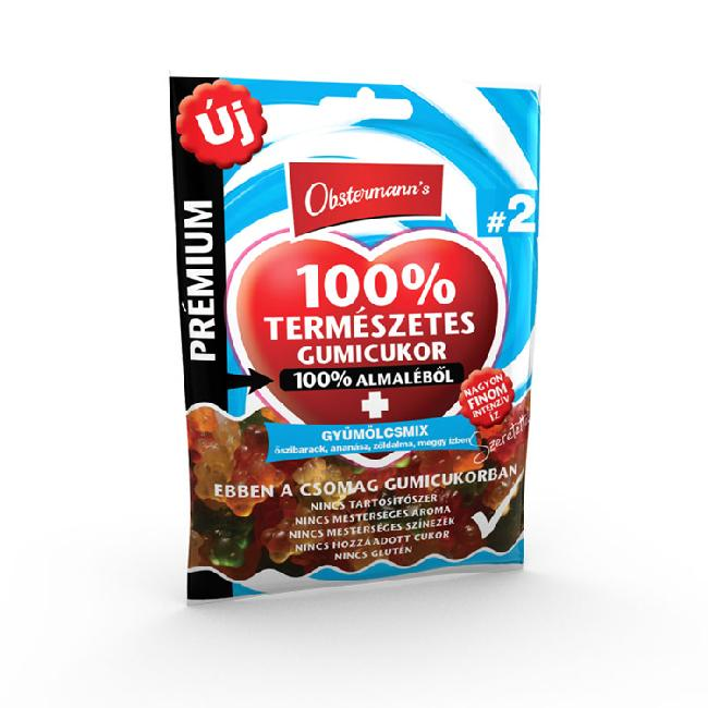 Jeleu din suc de mar 100%    fara gluten   MIX FRUCTE 80g