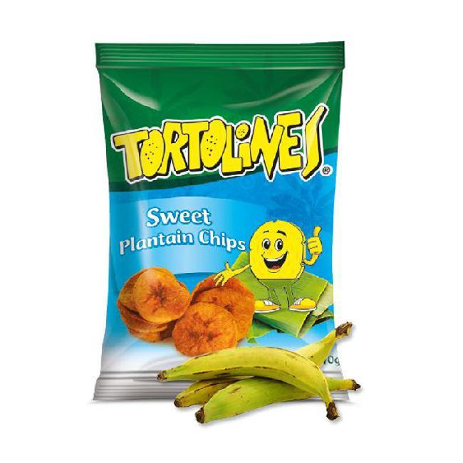 Tortolines - Chipsuri din banane verzi dulci 100g