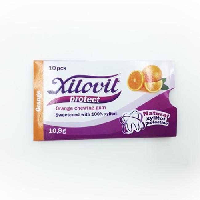 Xilovit - Guma de mestecat cu gust de portocale, 10 pastile