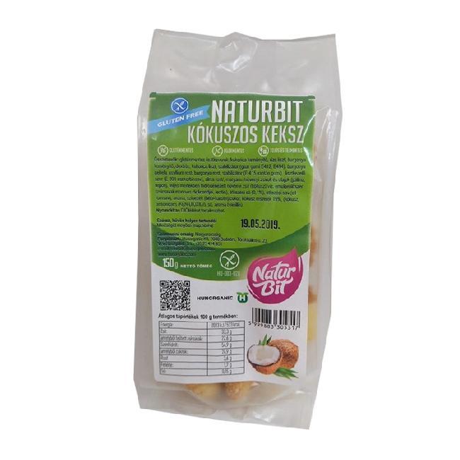 Naturbit biscuiti cu cocos 150g
