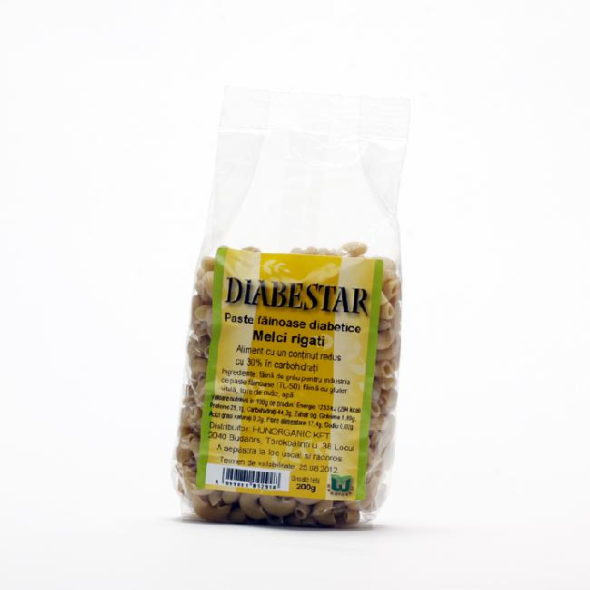 Diabestar paste macaroane cu carbohidrat scazut 200g