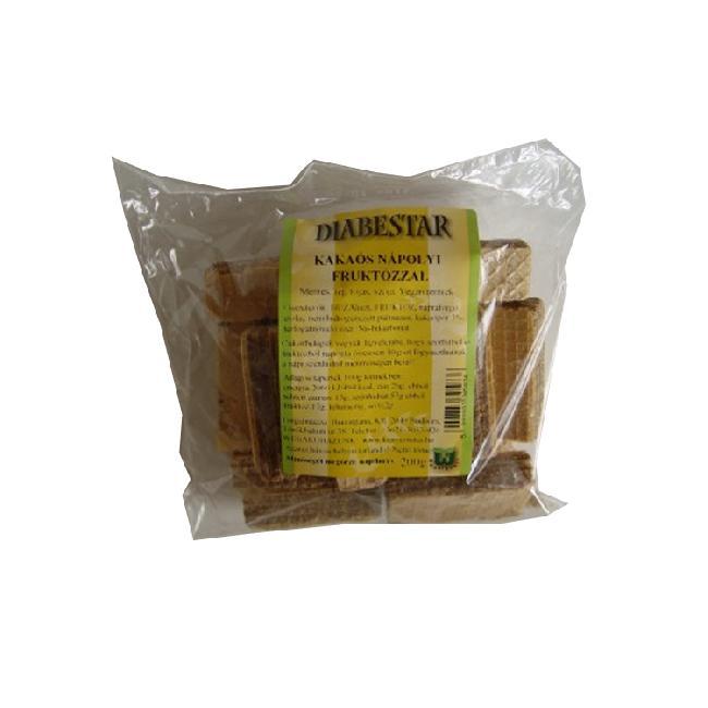 Diabestar Napolitane cu cacao  cu CH scazut 200g