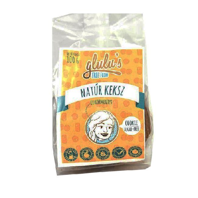 Glulu s Biscuiti natural fara gluten, fara zahar cu indulcitor 100g