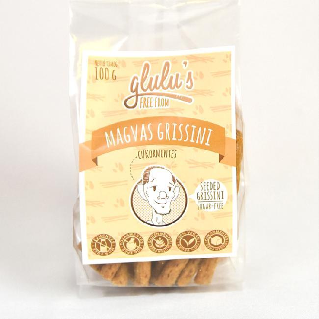 Glulu s  Grisini cu seminte fara gluten fara zahar 100g